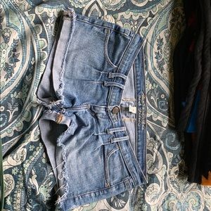 jean shorts Abercrombie